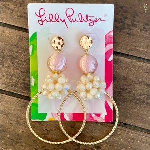 Lilly Pulitzer Caliente Statement Hoop Earrings